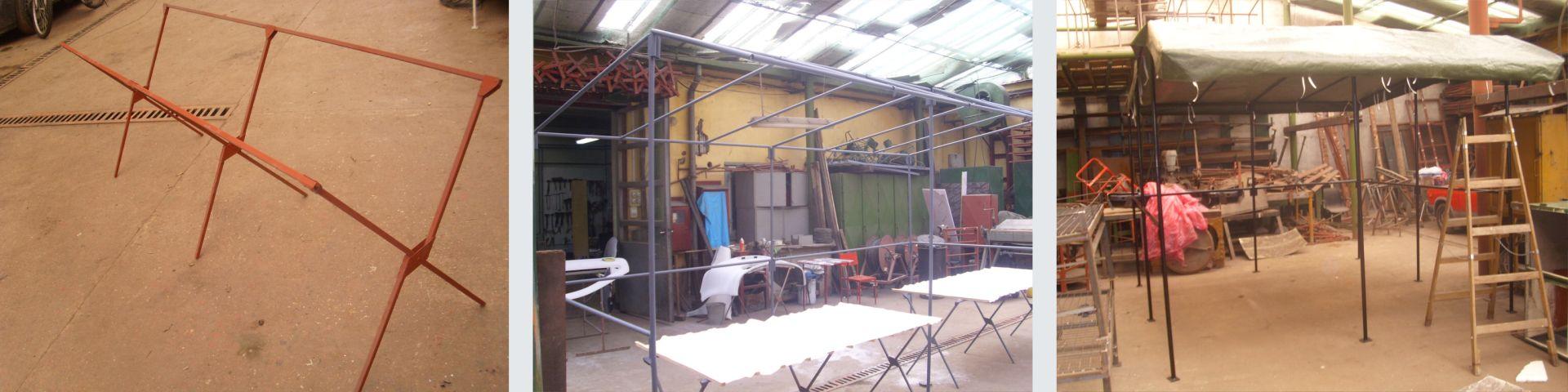 Szerkezetlakatos - Árusító sátor és piaci asztal készítés
